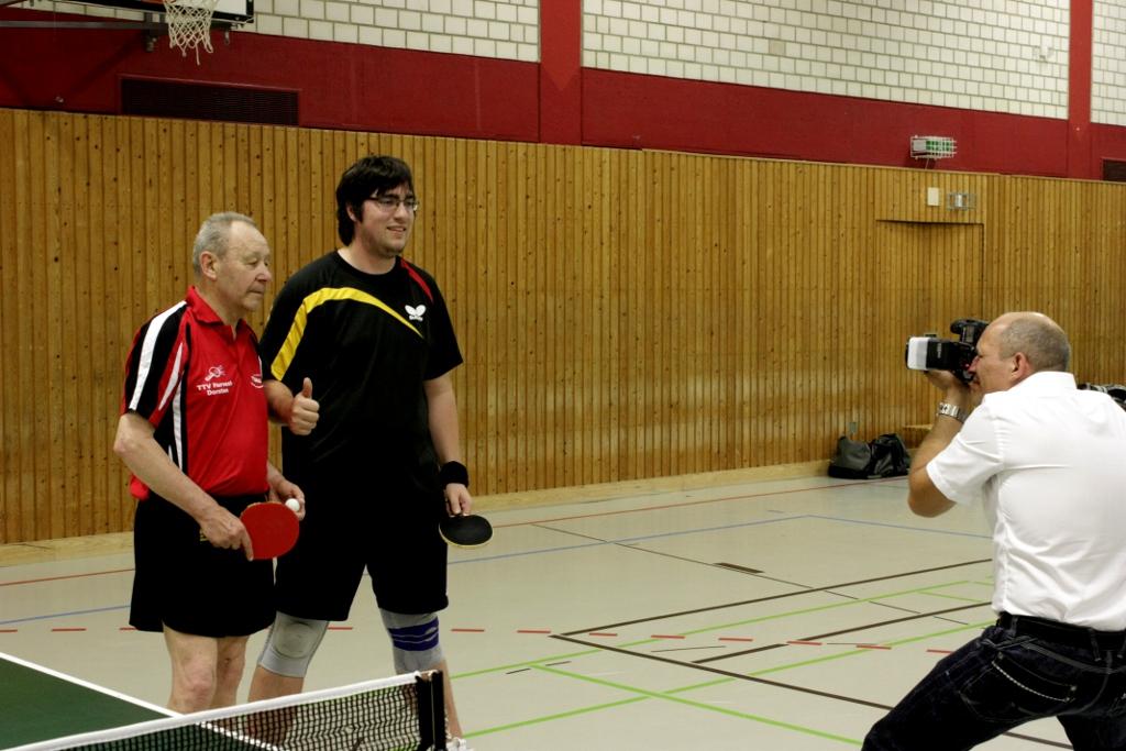 Roland Axmann mit seinem Doppelpartner